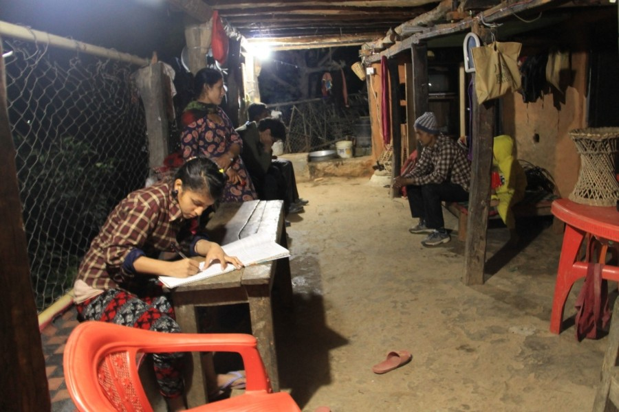 Manisha is happy she is able to read books and do her homework at night